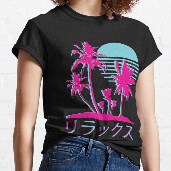Vaporwave Aesthetic // Neon Palms Classic T-Shirt