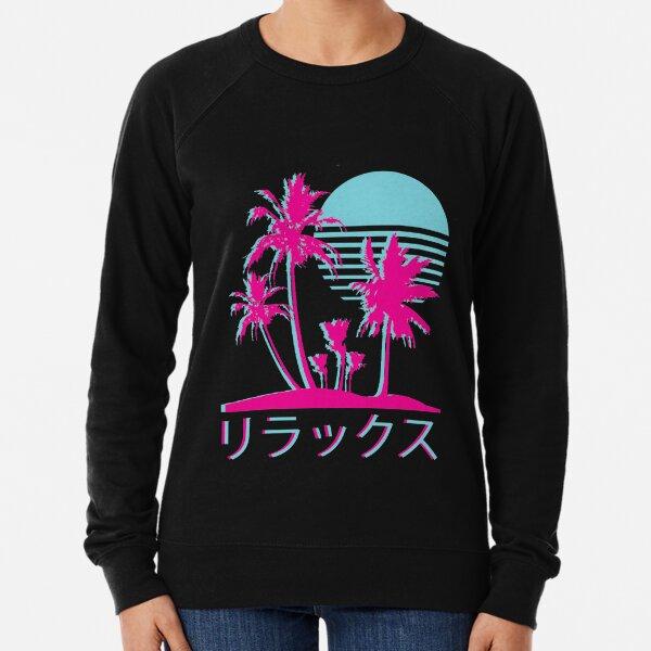Vaporwave Aesthetic // Neon Palms Lightweight Sweatshirt