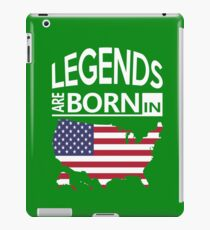 USA American Love Cool Birthday Surprise - Legends are born - Awesome Country Heritage Gift  iPad Case/Skin