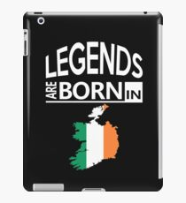 Ireland Irish Love Cool Birthday Surprise - Legends are born - Awesome Country Heritage Gift  iPad Case/Skin