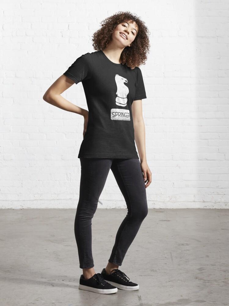 Alternate view of Schachfigur Springer - Schach Club Geschenk Essential T-Shirt