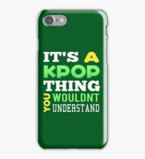 A KPOP THING - green iPhone Case/Skin