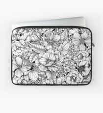 Floral Flower circle  Laptop Sleeve