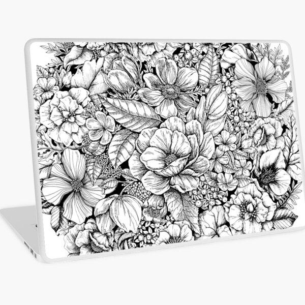 Floral Flower circle  Laptop Skin