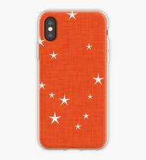 Orange Stern mit Gewebebeschaffenheit - Narwalsammlung iPhone-Hülle & Cover