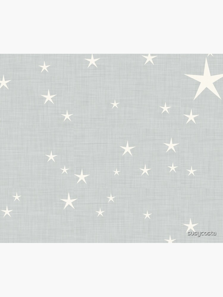Grey star with fabric texture - narwhal collection by susycosta
