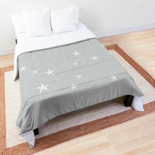 Grey star with fabric texture - narwhal collection Comforter