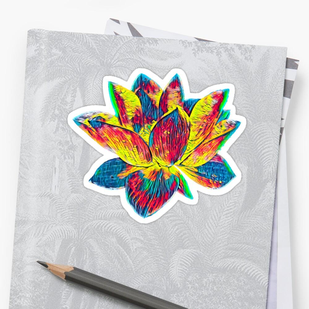 Beautiful lotus flower t shirt nature lovers stickers by ogireal beautiful lotus flower t shirt nature lovers by ogireal izmirmasajfo Images