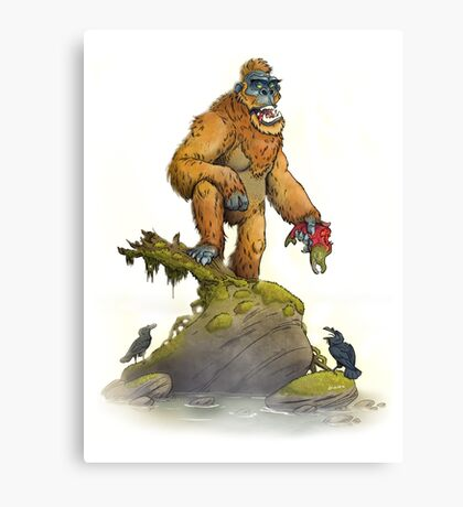 Bigfoot Canvas Print