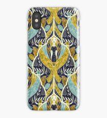 Art Deco in blue iPhone Case/Skin