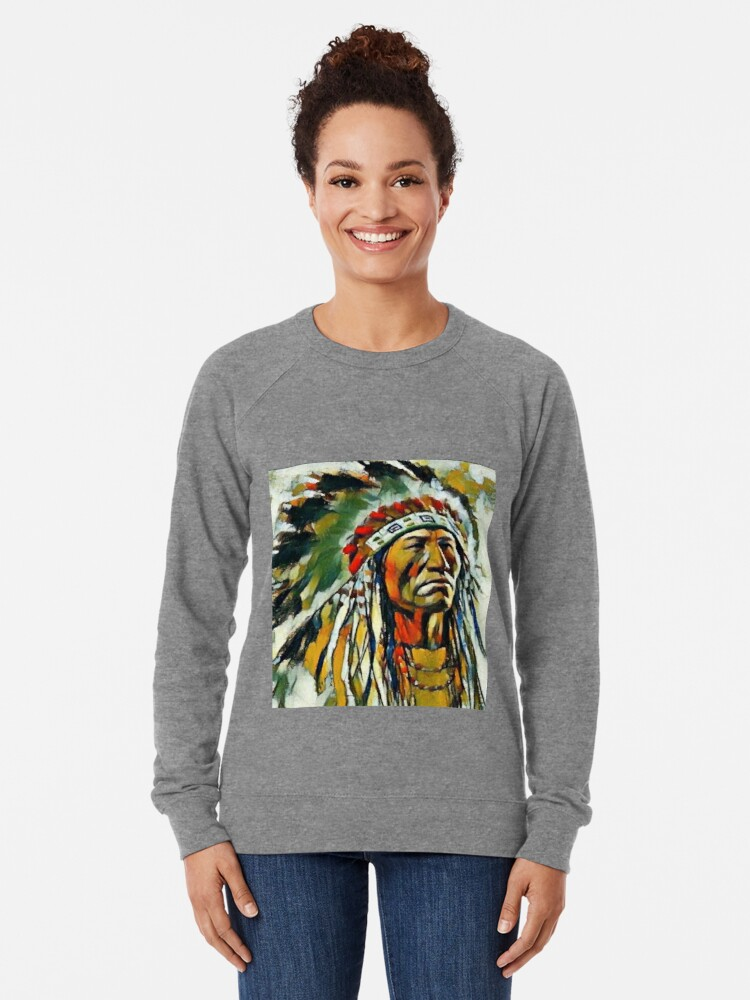 Native American Indian Dreamcatcher Wolf Casual Graphic Pullover Hoodie