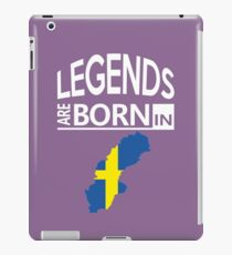 Sweden Swedish Love Cool Birthday Surprise - Legends are born - Awesome Country Heritage Gift  iPad Case/Skin