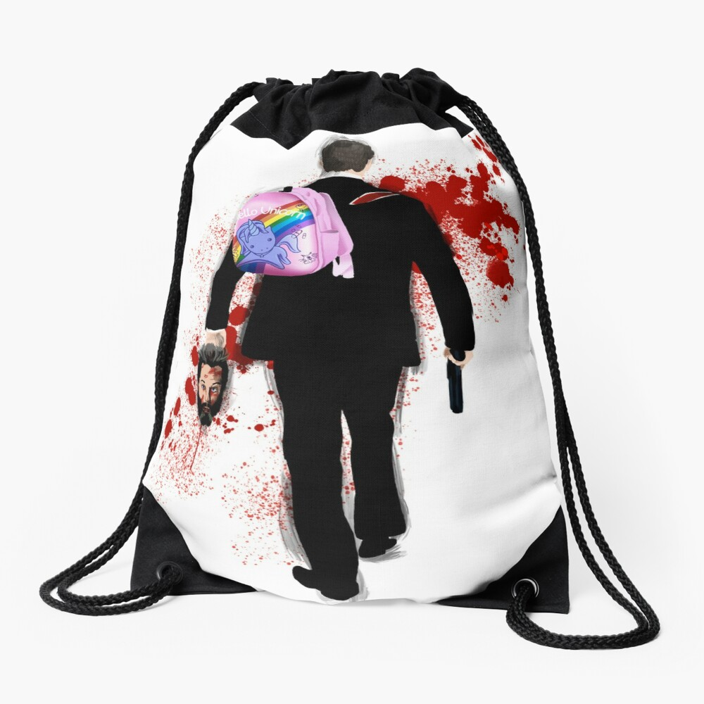 Hello Unicorn Altered Carbon Drawstring Bag