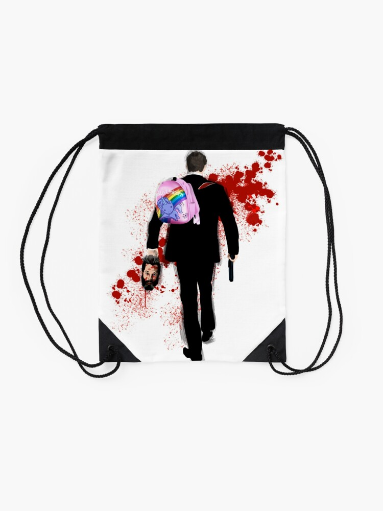 Alternate view of Hello Unicorn Altered Carbon Drawstring Bag