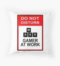 Gamer At Work - PC Throw Pillow