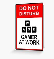 Gamer At Work - PC Greeting Card