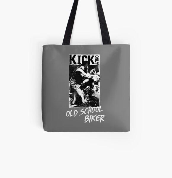 Kick Only - Old School Biker All Over Print Tote Bag