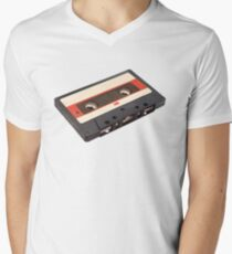 Cassette Tape Polygon Art Men's V-Neck T-Shirt