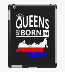 Russia Russian Woman Birthday Surprise - Queens are born - Awesome Country Heritage Gift  iPad Case/Skin