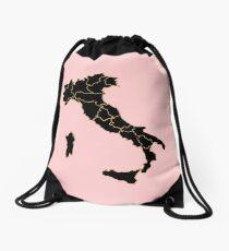 Italy map Drawstring Bag