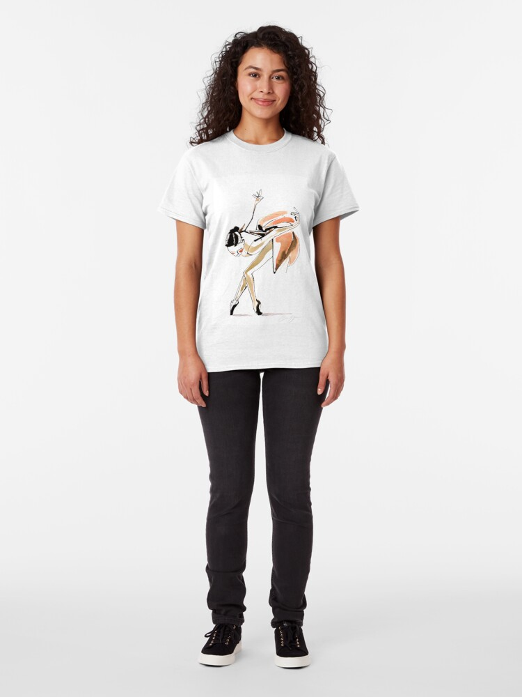 Alternate view of Expressive Watercolor Dance Drawing Classic T-Shirt