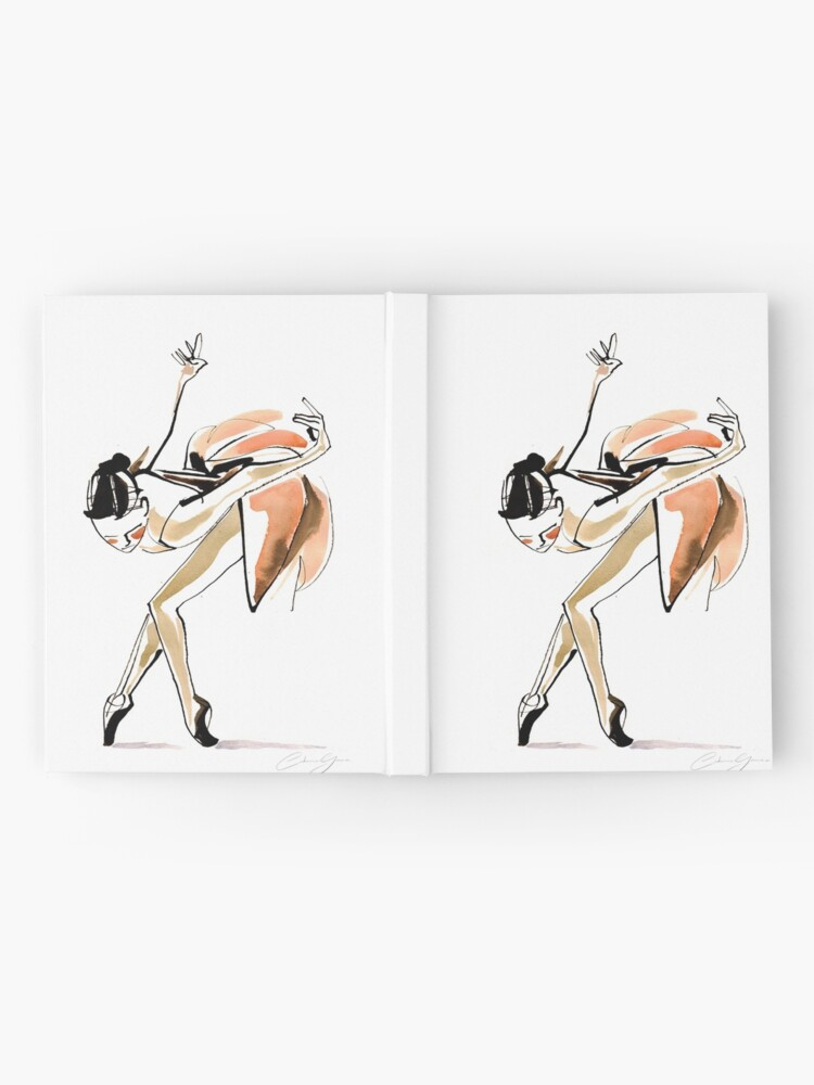 Alternate view of Expressive Watercolor Dance Drawing Hardcover Journal