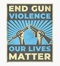 Lámina fotográfica End Gun Violence