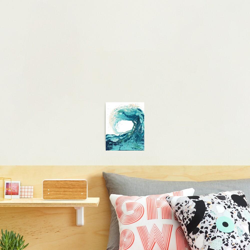 Ocean Wave Art Print Picture - Turquoise Sea Surf Beach Decor  Photographic Print