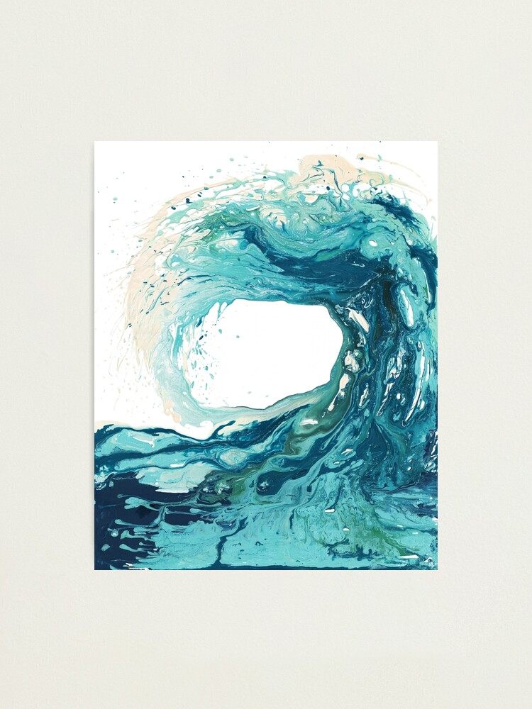 Alternate view of Ocean Wave Art Print Picture - Turquoise Sea Surf Beach Decor  Photographic Print