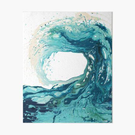 Ocean Wave Art Print Picture - Turquoise Sea Surf Beach Decor  Art Board Print