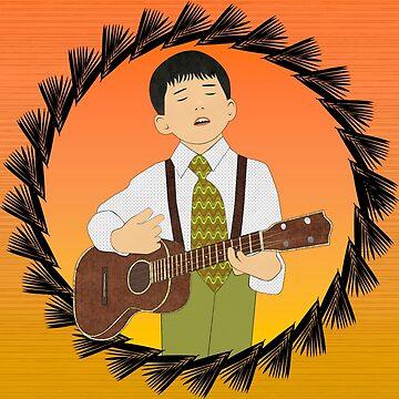 Ukulele musician by janetcarlson