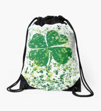 watercolor Clover Drawstring Bag