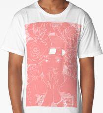 Pink + White Long T-Shirt
