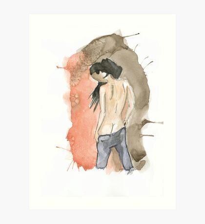 Anonymous nude I Art Print