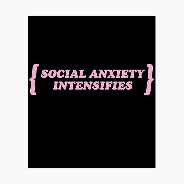 Pastel Goth / Social Anxiety Intensifies / Kawaii Photographic Print