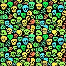 Cool Seamless Skull Pattern by Carl Huber