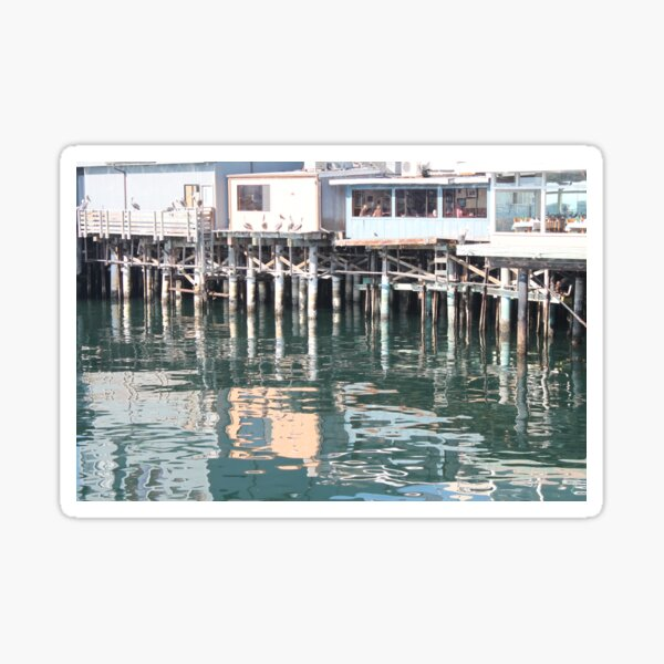 Reflections at Monterey Harbor Sticker