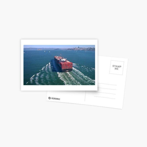 Container ship in San Francisco Bay Postcard