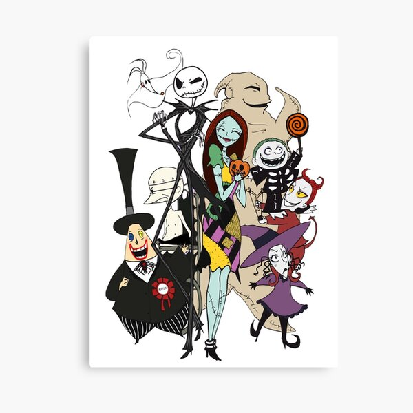 the nightmare before christmas Canvas Print