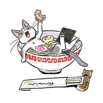 Gato divertido de itsuko