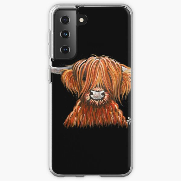 Scottish Hairy Highland Cow ' HARLEY 2 ' by Shirley MacArthur Samsung Galaxy Soft Case