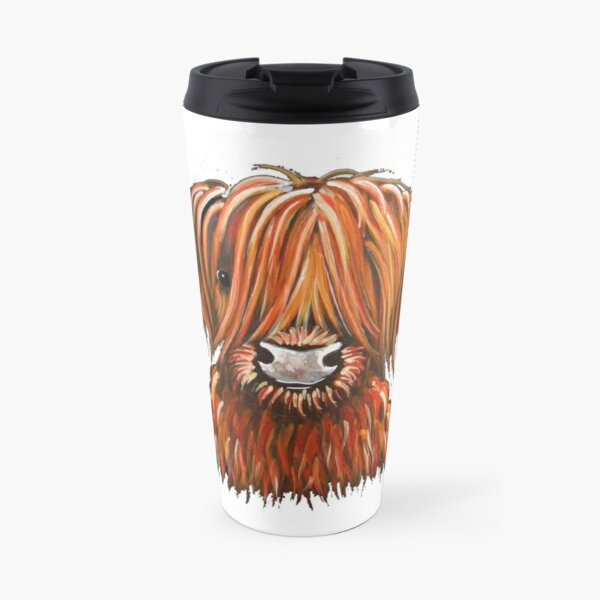 Scottish Hairy Highland Cow ' HARLEY 2 ' by Shirley MacArthur Travel Mug
