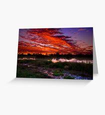 Birdsville sunrise Greeting Card