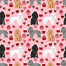Toy Poodles mixed coat valentines day cupcakes love hearts dog breed gifts pet portraits must haves poodles by PetFriendly