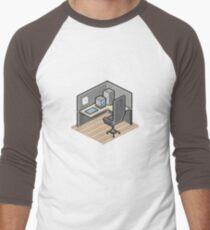 Cubicle Men's Baseball ¾ T-Shirt