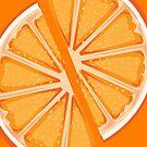 Pair of orange slices by Maria Nazarian