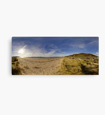 Lisfannon Beach, Fahan, County Donegal, Equirectangular  Canvas Print