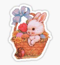 Bunny Rabbit in an Easter Basket Sticker
