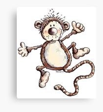 Funny Jumping Monkey Canvas Print