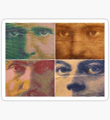 Franc Faces Sticker